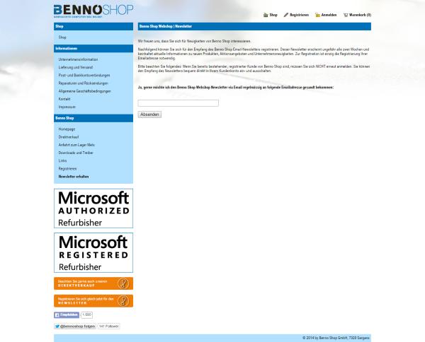 bennoshop_newsletter_anmelden